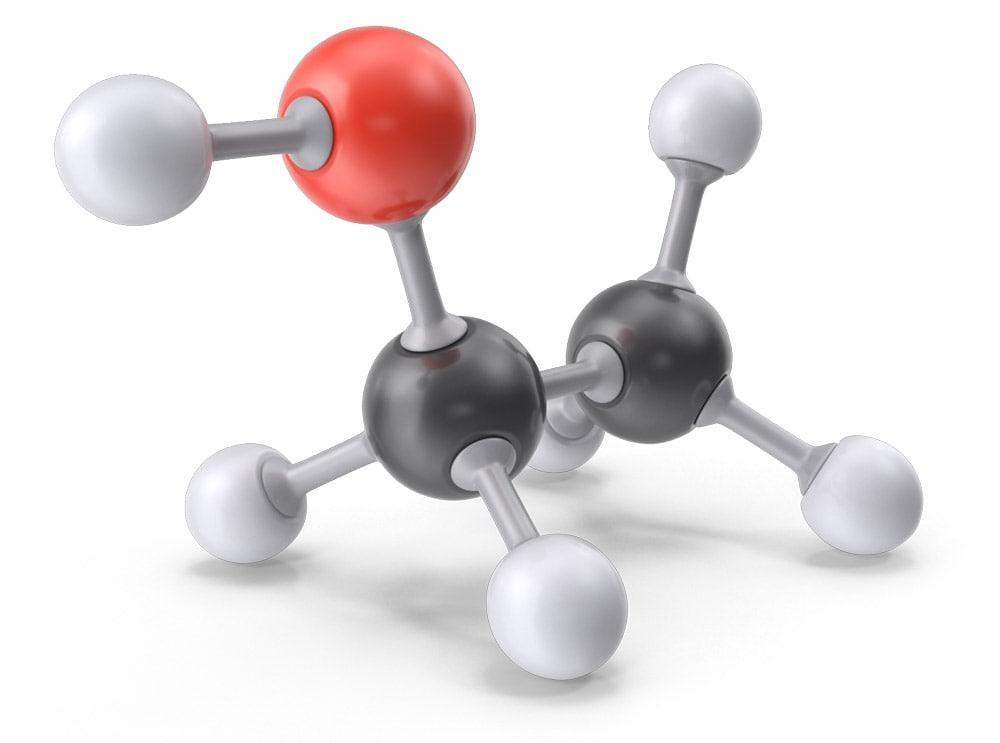 Ethanol-Molecule
